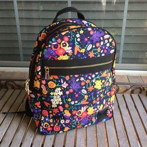 LuLaRoe Black Floral Canvas Backpack